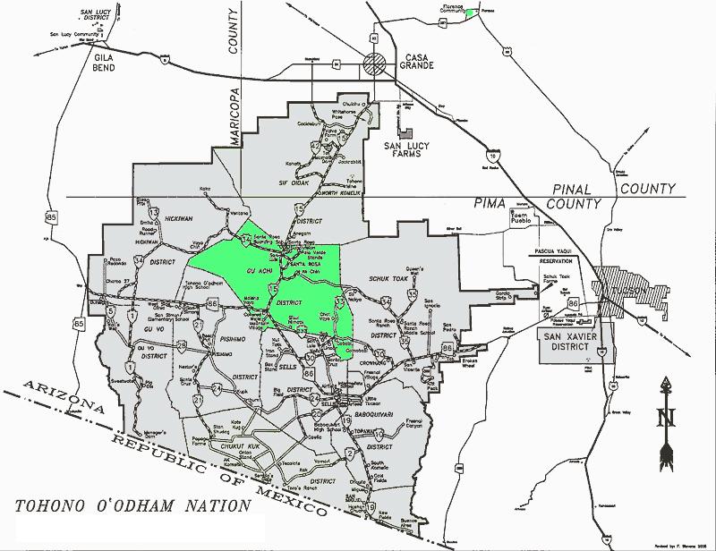 Map of Gu Achi District